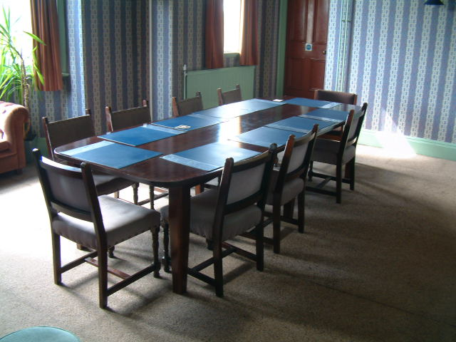 Meeting room and board room table